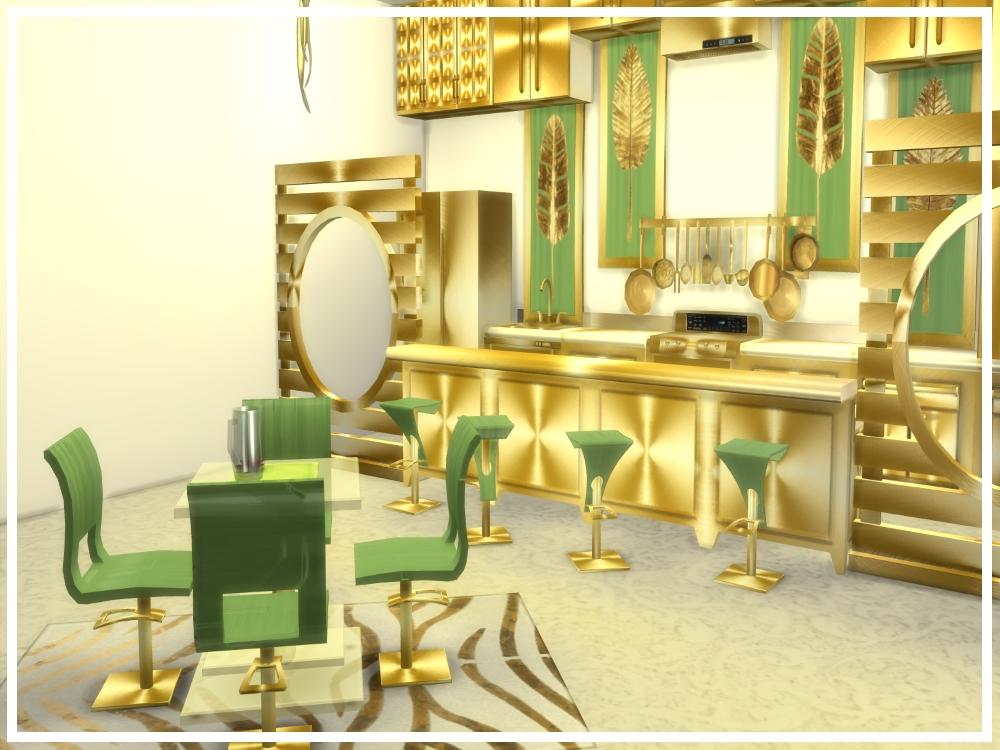 Newluxurioussims4 Zoe Diningroom Set